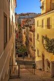 Narrow street of Lisbon Stock Photography