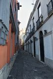 Narrow street in Lisbon Stock Photo