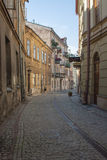 Narrow Street, Lublin, Poland Royalty Free Stock Photos
