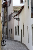 Narrow street in Lucerne Stock Photo