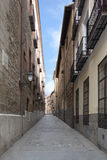 Narrow street of madrid, Spain Royalty Free Stock Photo