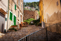 Narrow street, Majorca, Spain Royalty Free Stock Photos