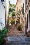 Narrow street, Majorca, Spain Royalty Free Stock Photo