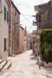 Narrow street in Makarska Royalty Free Stock Photography