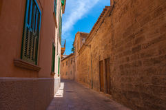 Narrow street, Mallorca. Royalty Free Stock Image