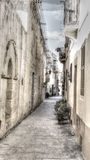 Narrow street in Malta Stock Photography