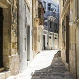 Narrow street on Malta Stock Photography