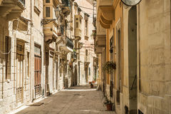 Narrow street in  Malta. Narrow street in Valletta - the capital of Malta Royalty Free Stock Images