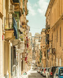 Narrow street in  Malta Stock Images