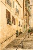 Narrow street in  Malta. Narrow street in Valletta - the capital of Malta Royalty Free Stock Photos