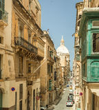Narrow street in  Malta. Narrow street in Valletta - the capital of Malta Stock Photography