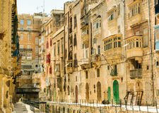 Narrow street in  Malta Stock Image