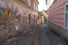 Narrow street in Maribor Royalty Free Stock Images
