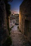 Narrow street of matera Stock Photography
