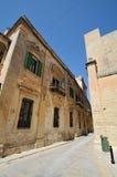 Narrow Street in Mdina. Narrow Street in the historic site of Mdina (The city of Silence) on Malta Stock Image