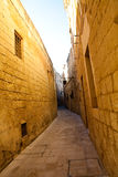 Narrow street of Mdina, Malta Stock Photography