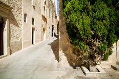 Narrow street in Mdina Stock Photos