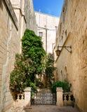 Narrow street in Mdina Royalty Free Stock Photo