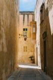 Narrow street of Mdina, Malta Royalty Free Stock Image