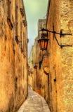 Narrow street in Mdina. The old capital of Malta Royalty Free Stock Photography