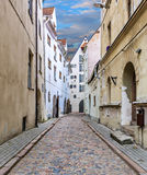Narrow street in medieval city Stock Photography