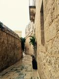 Narrow street. Narrow medieval street in Mdina, Malta Royalty Free Stock Photo