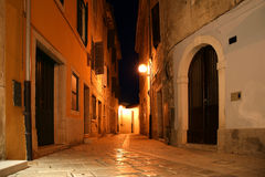 Narrow street of the medieval town, Croatia, Porec Royalty Free Stock Photos