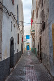 Narrow street in the medina of Essaouira Stock Image