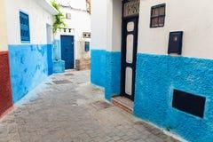 Narrow street in Medina. Tangier, Morocco Stock Image
