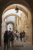 Narrow street in the medina, Tunis stock photography