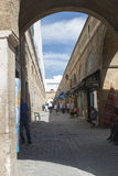 Narrow street in the medina, Tunis Royalty Free Stock Photography