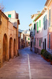 Narrow street in the Mediterranean town Stock Images