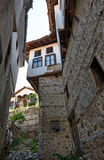 Narrow street in Melnik town Stock Image