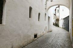 Narrow street in meran horizontal Stock Images