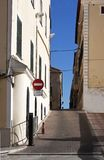 Narrow street in Minorca - RAW format Royalty Free Stock Image