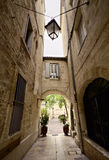 Narrow Street of Montpellier Stock Photography