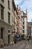Narrow street in Munich Stock Images