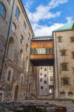 Narrow street near castle in Turku,Finland Royalty Free Stock Photo