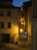 Narrow Street at Night. Street at night in Arezzo, Italy at night Royalty Free Stock Image