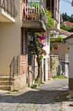 Narrow street in Ohrid town, Macedonia Royalty Free Stock Photography