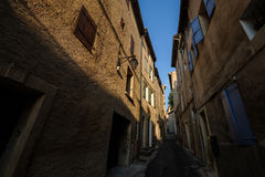 Narrow street in old city centre Royalty Free Stock Photography