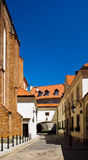 Narrow street of old city in Europe Stock Photos