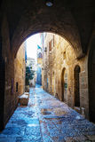 Narrow street in Old City of Jerusalem Royalty Free Stock Images