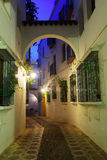 Narrow street  of  old Cordoba in early morning Royalty Free Stock Images