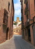 Narrow street in old district. Tortosa Stock Image