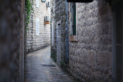 Narrow street in old Europe Royalty Free Stock Image