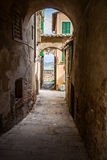 Narrow Street in an Old Italian Town. Tuscany, Italy Royalty Free Stock Photography