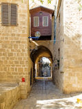 Narrow Street in Old Jaffa Royalty Free Stock Photo