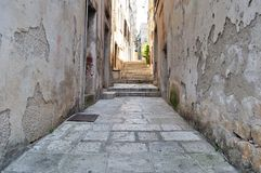 Narrow street in old medieval town. Korcula, Croatia, Europe Stock Image
