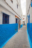 Narrow street of old Medina. Tanger Royalty Free Stock Photo